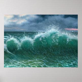 Einhörner in den Wellen 20x28 Poster