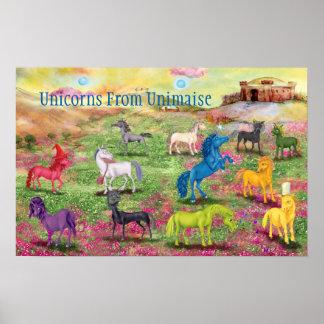 Einhörner von Unimaise Plakat