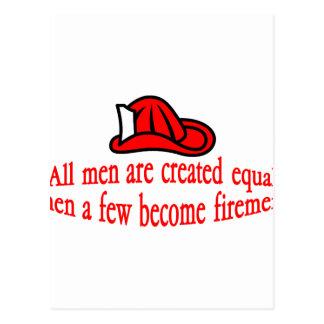 Einig Feuerwehrmann Postkarte