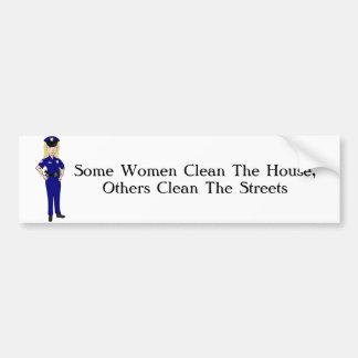 Einige Frauen säubern Polizei-Offizier-Spaß Autoaufkleber