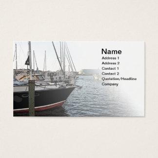 einige Segelboote angekoppelt Visitenkarte