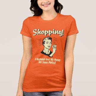 Einkauf: Ehemann und sein Geld T-Shirt