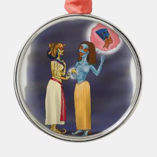 Einkaufen Frau Mummific Silbernes Ornament