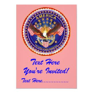 """Einladung 4,5"""" x 6,25"""" Amerika nicht vergessen…."""