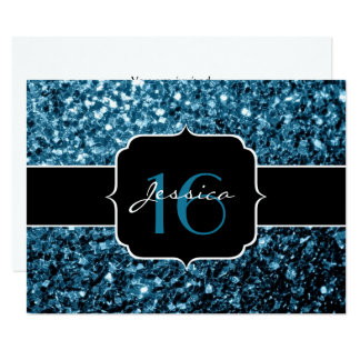 Einladung Babyblau-Glitter-Glitzern Bonbon-16