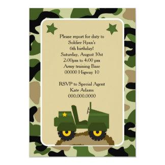Einladung den Soldaten mitglied sein Fest camuflag