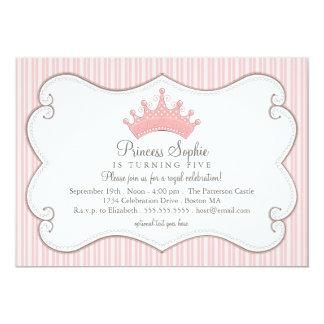 Einladung Prinzessin-Birthday Party Pink Crown