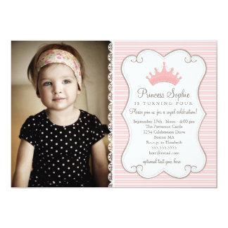 Einladung Prinzessin-Birthday Pink Crown Foto