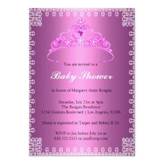 Einladung Tiara-Prinzessin-Babyparty