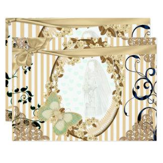 Einladung von Hochzeit altertümlicher Spiegel