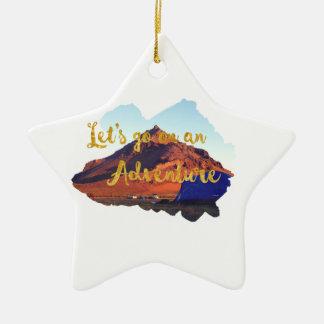 Einladung zu wagen keramik Stern-Ornament