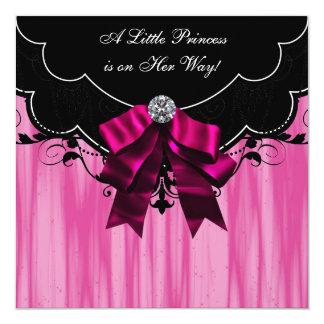 Einladungen Pink-Prinzessin-Babyparty