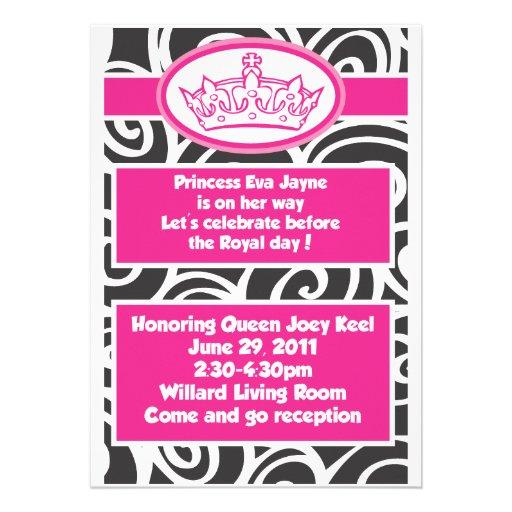 Einladungen Prinzessin-Babyparty