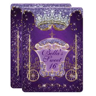 Einladungen Prinzessin-Carriage Jewel Party