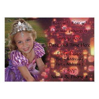 Einladungen Prinzessin-Turning 3 für Geburtstag