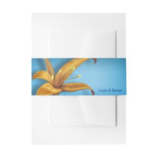 Einladungs-Bauch-Band mit Lilie Einladungsbanderole