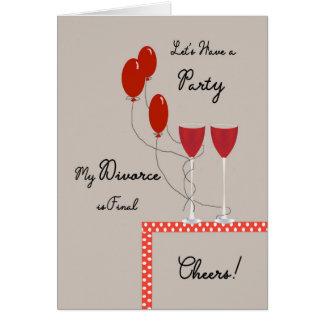 Einladungs-Karte für Scheidung ist abschließendes Grußkarte