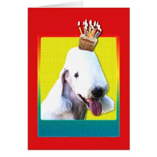 Einladungs-kleiner Kuchen - Bedlington Terrier Karte