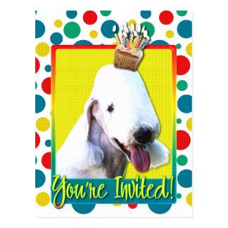 Einladungs-kleiner Kuchen - Bedlington Terrier Postkarte
