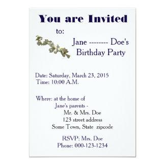 Einladungs-Schablone Karte