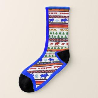 Einmal in einem blauen Elch und in den Freunden - Socken