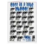 Einmal in einem blauen MOO-Mond Grußkarte