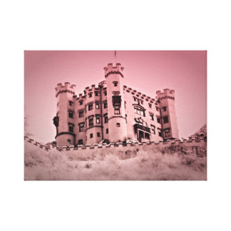 Einmal nach einem Schloss-Leinwand-Bild Leinwanddruck