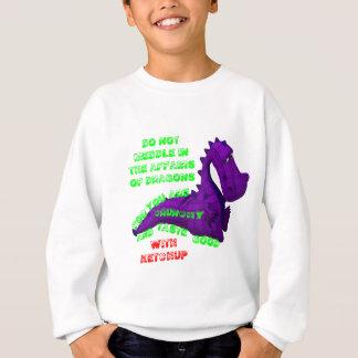 Einmischen in den Drache-Angelegenheiten Sweatshirt