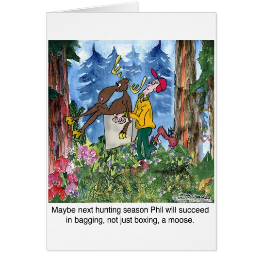 Einpacken eines Elches Grußkarte