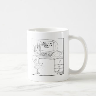 Einsame Gabel, die Freunde sucht Kaffeetasse