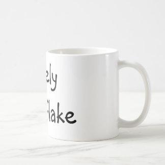 Einsame Schneeflocke Kaffeetasse