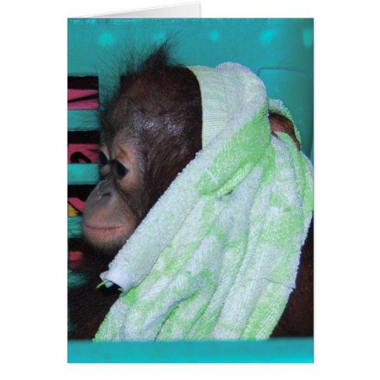 Einsamer Baby-Orang-Utan Grußkarte