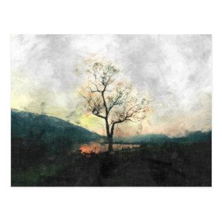 Einsamer Baum Postkarte