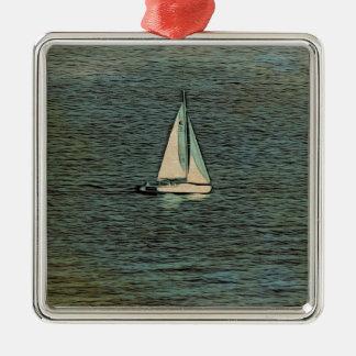 Einsamer Navigator Silbernes Ornament