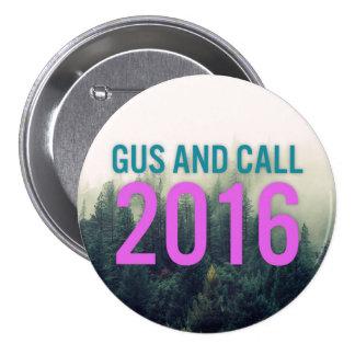 Einsamer TaubeGus und Anruf im Jahre 2016 Runder Button 7,6 Cm