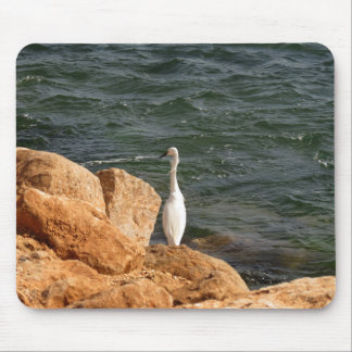 Einsamer Vogel am Ozean Mousepads