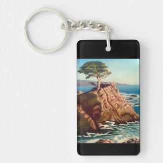 Einsames Cypruss Keychain Schlüsselanhänger