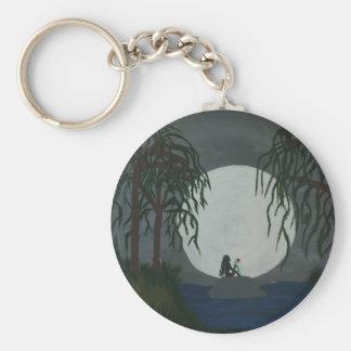 Einsamkeits-Kunst-Druck Schlüsselanhänger