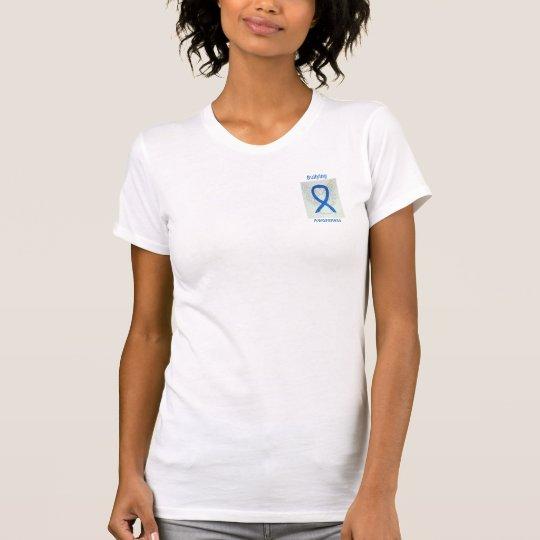 Einschüchternbewusstseins-blaues T-Shirt