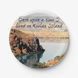 Einst lebte ich auf Koolan Insel Pappteller 17,8 Cm