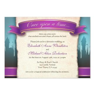Einst Märchen-Hochzeits-Einladungen Karte