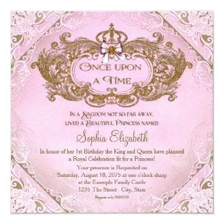 Einst Prinzessin 1. Geburtstag Einladungskarten
