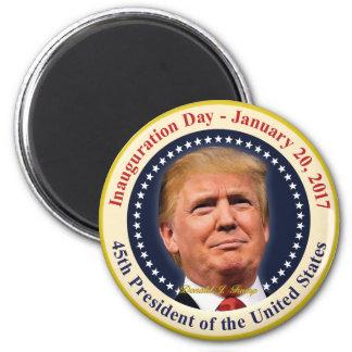Einweihungs-Tagesandenken Präsidenten-Donald Trump Runder Magnet 5,7 Cm