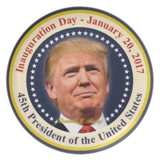 Einweihungs-Tagesandenken Präsidenten-Donald Trump Teller