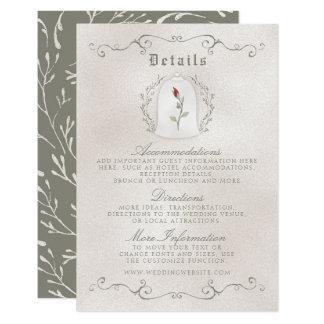 EINZELKARTE | elegante Rote Rose der 8,9 X 12,7 Cm Einladungskarte