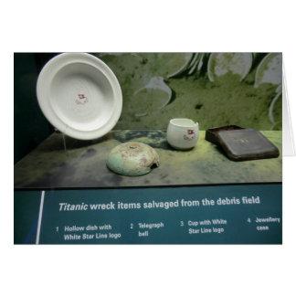 Einzelteile gerettet vom titanischen karte