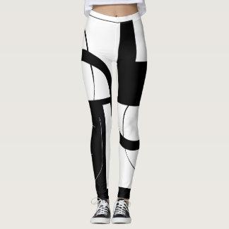 einzigartig black&white leggings