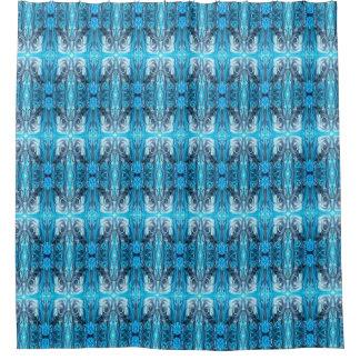Einzigartig blauer Entwurf Duschvorhang