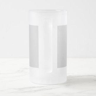 Einzigartig, handgemacht, blumig matte glastasse