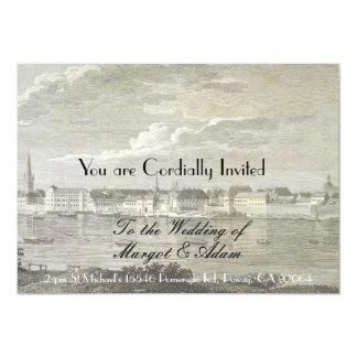 Einzigartige Hochzeits-Einladung, weich, Vintag 12,7 X 17,8 Cm Einladungskarte